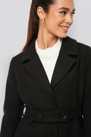 Palton Sleeve Slit Coat [3]