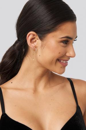 Set cercei Chained Pendant Earrings [2]