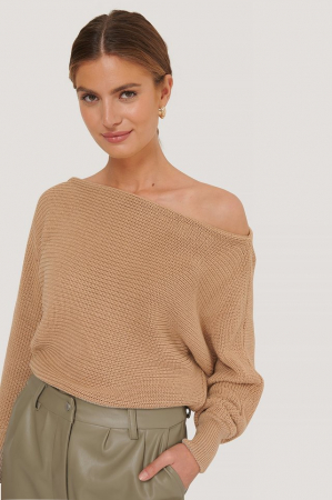 Pulover Off Shoulder Knitted Sweater [2]