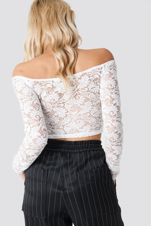 Bluza Off Shoulder Lace Top1