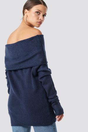 Pulover Offshoulder Folded Wide Sweater1