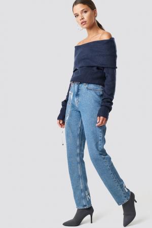 Pulover Offshoulder Folded Wide Sweater2