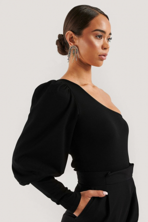 Top One Puff Sleeve Crop0