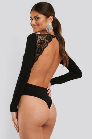Open Back Lace Body0