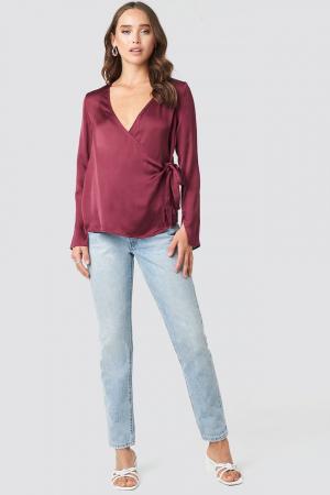 Bluza Overlap Side Tie Satin [2]