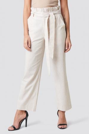 Pantaloni Paper Waist Striped [2]