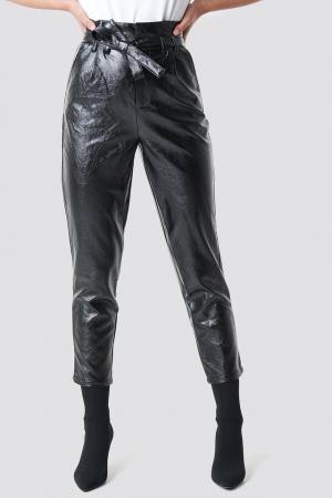 Pantaloni Paperwaist Patent Leather [1]