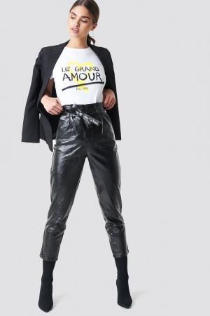 Pantaloni Paperwaist Patent Leather [0]
