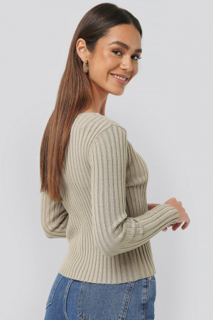 Cardigan Pearl Detailed Knitted2