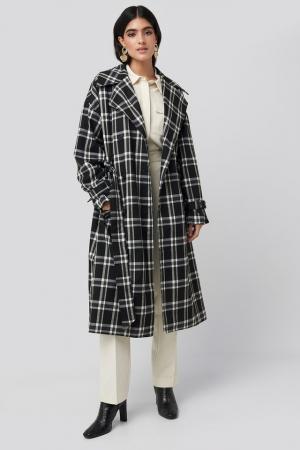 Palton Plaid Oversized Belted Coat [3]