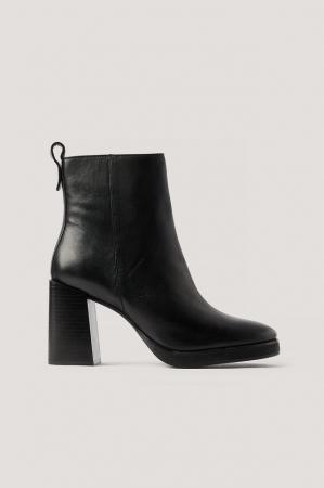 Botine Din Piele Naturala  Platform Leather [0]