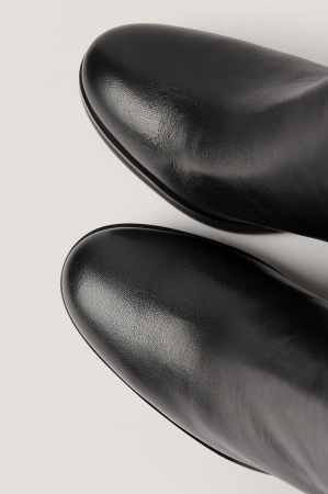 Botine Din Piele Naturala  Platform Leather [4]