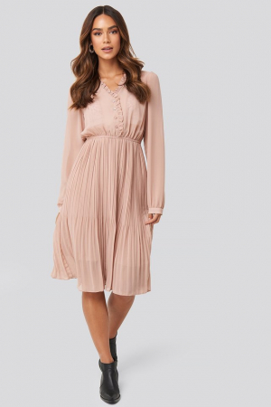 Rochie Pleated Flowy Button Up [0]