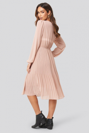 Rochie Pleated Flowy Button Up [1]