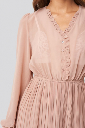 Rochie Pleated Flowy Button Up [2]