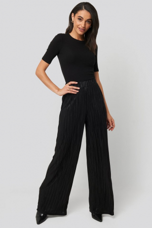 Pantaloni Plisse Wide Leg [0]