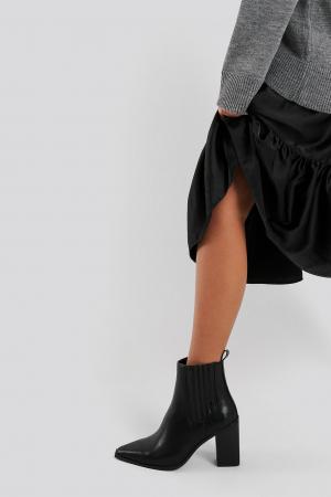 Botine Pointy Block Heel Boots [5]