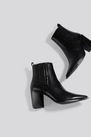Botine Pointy Block Heel Boots [1]