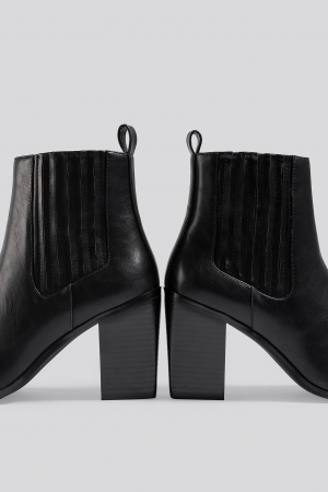 Botine Pointy Block Heel Boots [3]