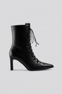 Botine Pointy Lace Up Booties [0]