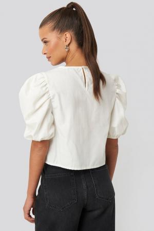 Top Puff Shoulder Short Sleeve1