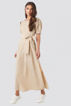 Rochie Puff Sleeve Belted Max [0]