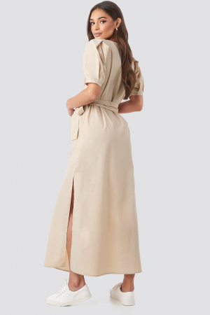 Rochie Puff Sleeve Belted Max [1]