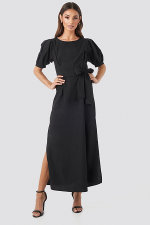 Rochie Puff Sleeve Belted Max2