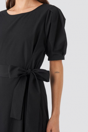 Rochie Puff Sleeve Belted Max3