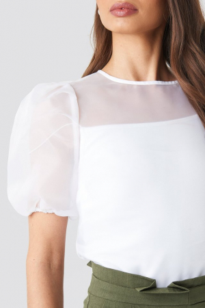 Top Puff Sleeve Organza3