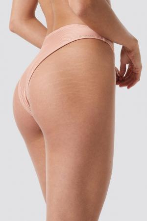 Slip De Baie Ribbed High Cut Panty [1]
