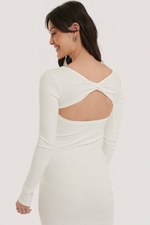 Rochie Ribbed Wrapped Back [2]
