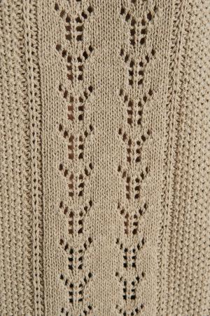 Round Neck Pointelle Sweater NA-KD, Beige3