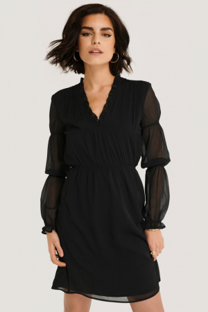 Rochie Ruched Long Sleeve1