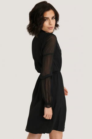 Rochie Ruched Long Sleeve2