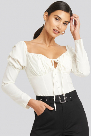 Ruffle Cup Blouse0