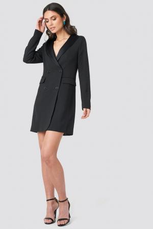 Satin Collar Blazer Dress [2]