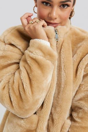 Jacheta Short Front Pocket Faux Fur2