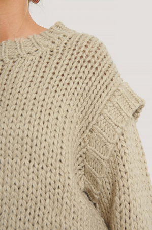 Pulover Wool Blend Shoulder Detail2