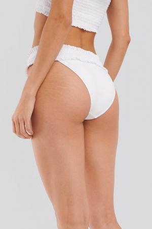 Slip De Baie Smocked Flounce Panty [1]