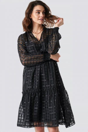 Rochie Square Patterned Flounce [0]