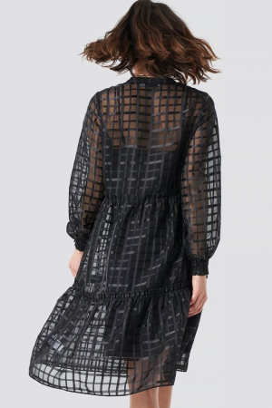 Rochie Square Patterned Flounce [1]