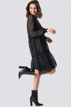 Rochie Square Patterned Flounce [2]