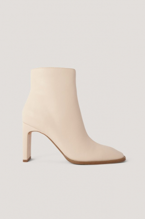 Botine Squared Slanted Toe Boots [0]