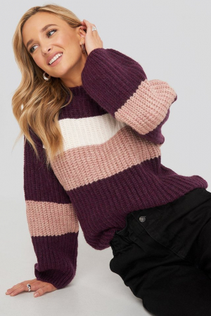 Pulover Striped Chunky0