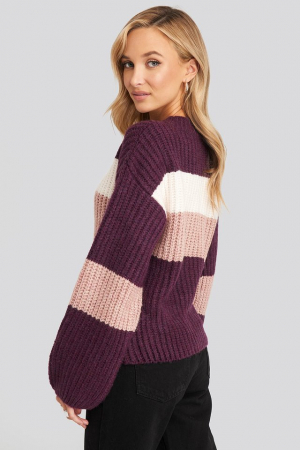 Pulover Striped Chunky1