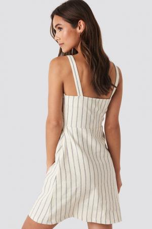 Rochie Striped Linen-Blend [1]