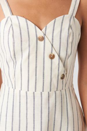 Rochie Striped Linen-Blend [3]
