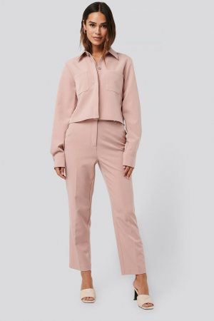 Pantaloni Tailored Cropped Suit0