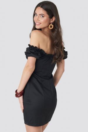 Rochie Tie Front Off Shoulder Mini1